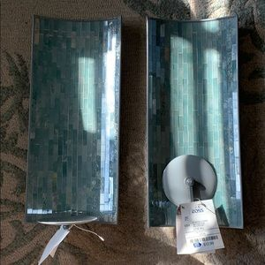 Brand New, Handcrafted Mosaic Glass Wall Sconces